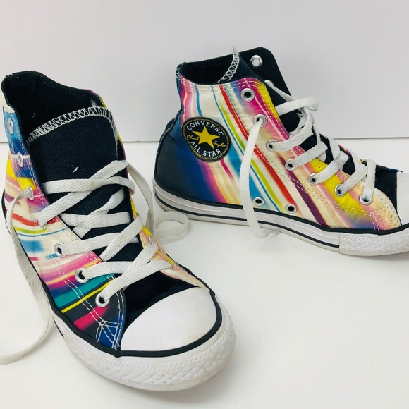 01722a30f86 Converse Other - CONVERSE Girls Sneakers High Tops Rainbow ALL STAR